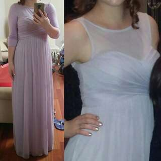 DAVID'S BRIDAL LAVENDER GOWN -Size 8 Worn Once