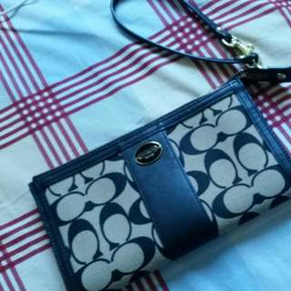 Coach wallet with wrist strap