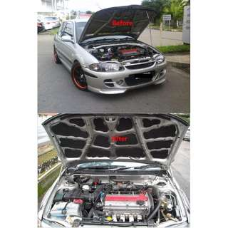 PROTON PERODUA TOYOTA Custom Made Bonet Hood Sound Proof