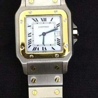 Cartier santos 2tone midsize automatic best price 120k...no inclusions