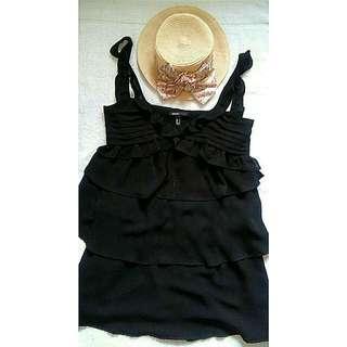 Free Shipping  MANGO BLACK PARTY DRESS