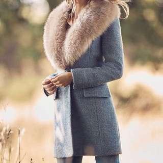 Badgley Mischka Wool Coat