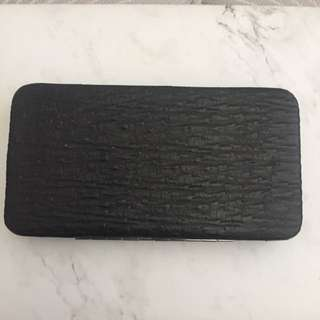 Black Cotton on Wallet
