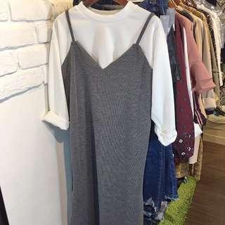 韓版兩件式長裙