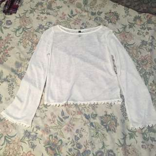 H&M Divided White Top