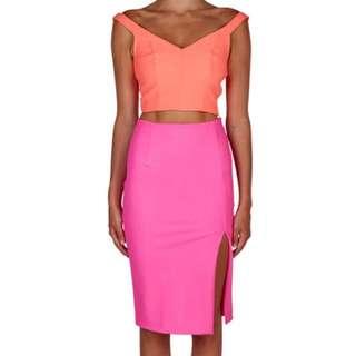 Kookai Electric Pink Skirt