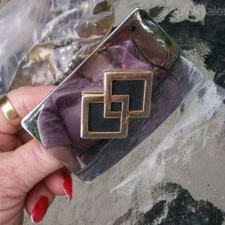 1940s silver costume belt buckle unisex collected used cond...