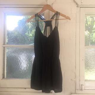 NWT black Playsuit Sz 6