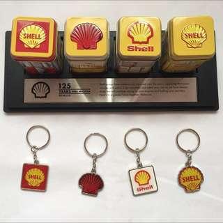 SHELL Keychain Set