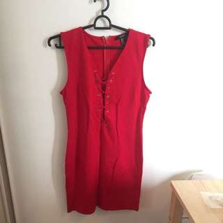 Forever 21 Red Dress Size M New