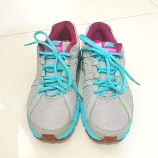 NIKE Women's Downshifter 5 Running Shoes Gray/Sky Blue