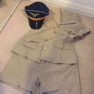 Female Pilot Uniform / Costume Size M-L