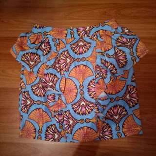 Blue and Orange Tight Skirt (two skirts)
