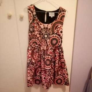 Multi-coloured Printed Dress