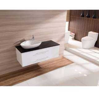 1200mm Wall Hung Bathroom Vanity Unit With Stone Top, Basin - Della Francesca
