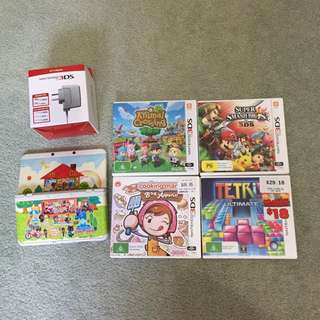 New 3DS Animal Crossing: Happy Home Desginer edition + 4 games + charger