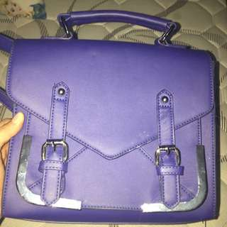 SOMETHING BORROWED BAG BLUE