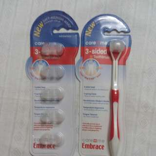 3 Sided Toothbrush And Refills