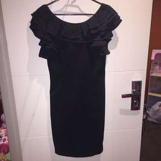 Sexy Black Formal Dress Forcast Size 10 Free Postage