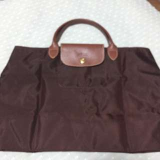 Longchamp BN Le Pliage In Brown