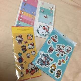 Hello Kitty Go Around Malaysia Memo Pad & Stickers