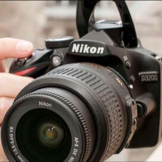 Nikon D3200 with 18-105mm VR lens