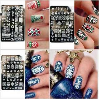 3 PCS/Lot MR Christmas Decorations Nail Stamping Plates 9.5*14.5CM Konad Stamping Nail Art Manicure Template Nail Stamp Tools