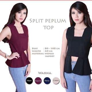 Split Peplum Top
