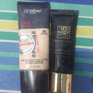 Loreal Infallible Pro Matte Foundation And Missha Complexion Coordinating BB Cream
