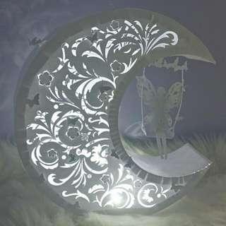 月之光~D1Y紙雕藝術燈(自家設計) 聖誕,情人禮物 Own Design Papercraft Lamp