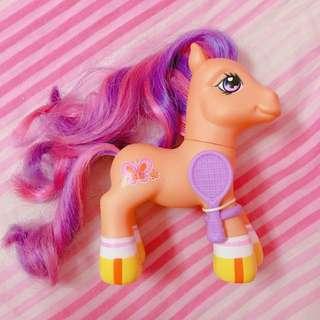 絕版 My Little Pony 彩虹小馬 彩虹 寶寶馬 粉橘 2007 老玩具