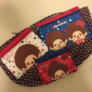 Monchichi 旅行萬用拉鍊袋(正貨)
