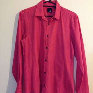 Men's Watermelon Coloured Dress Shirt