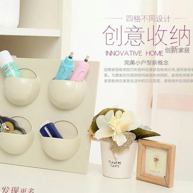 👸預購_無痕強力可反複使用粘貼掛式置物架廚房浴室用品收納架