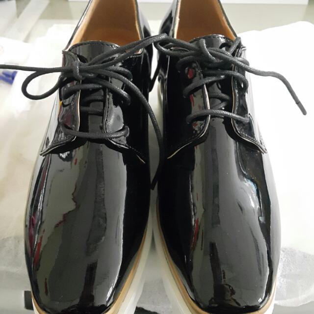 漆皮鬆高鞋 (韓版)