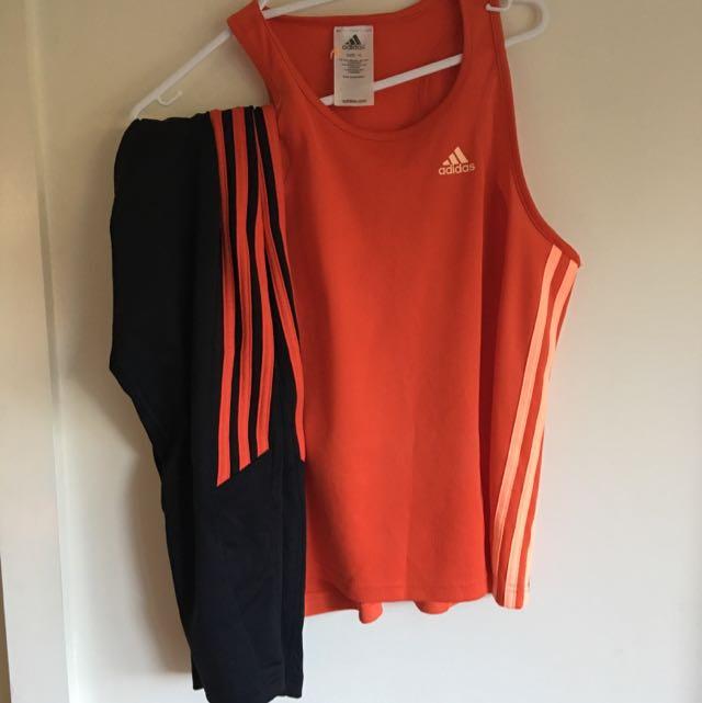 Adidas Singlet And 3/4 Tights