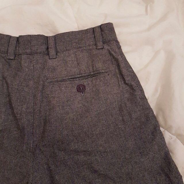 american apparel cotton chambray short