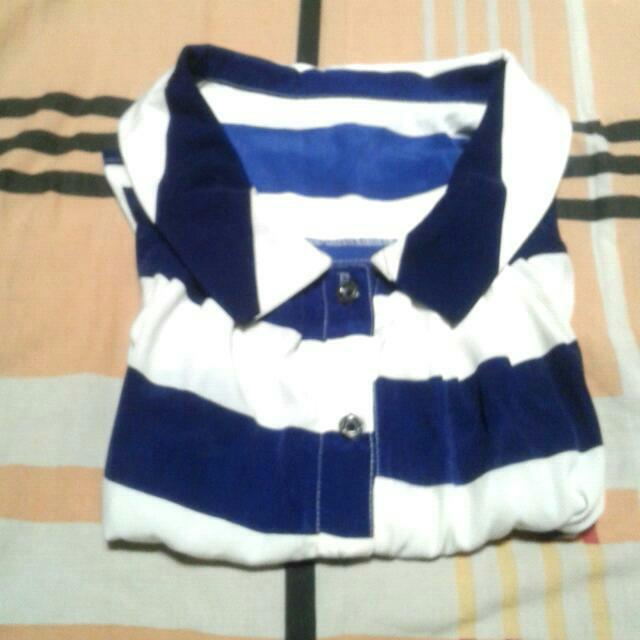Baju Katung Blue White