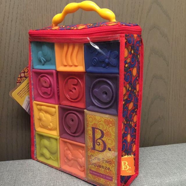 美國【B.Toys】123捏捏樂(軟積木)