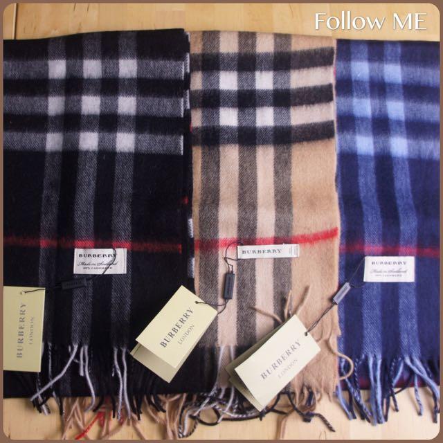 [現貨促銷] Burberry 經典不敗款圍巾(多色) Burberry圍巾