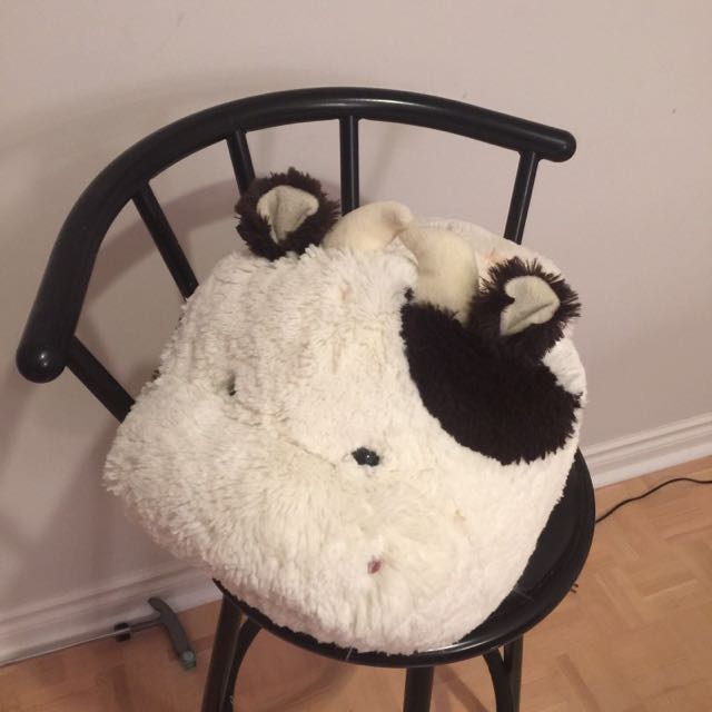 """Cow plush """"slipper"""""""