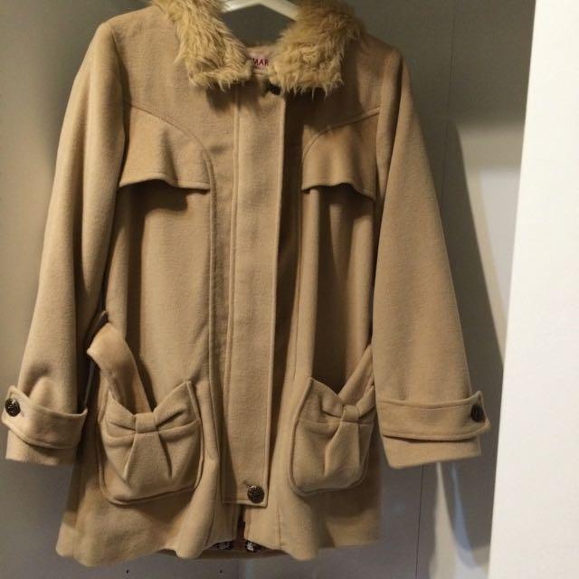 CUMAR駝色大衣