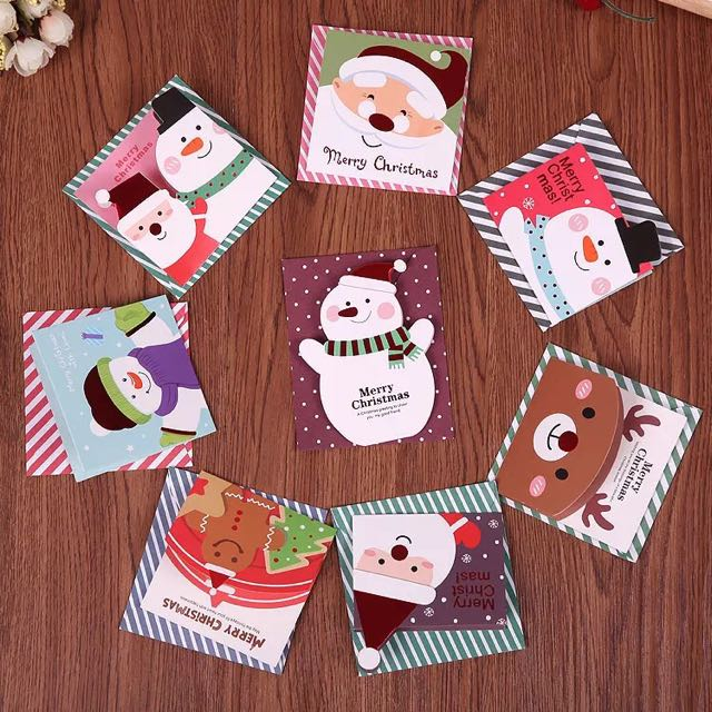 Cute Christmas Cards With Envelops
