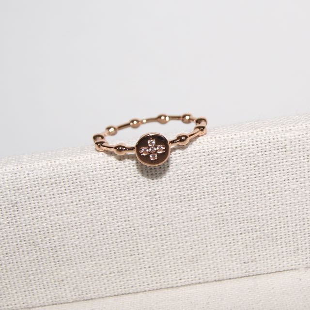 Dainty Rose Gold Crystal Ring