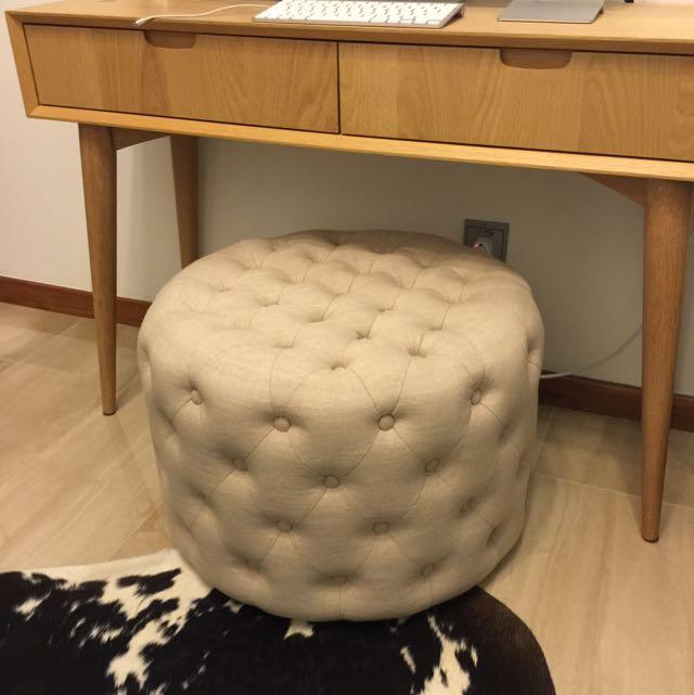 Designer Round Ottoman Chair