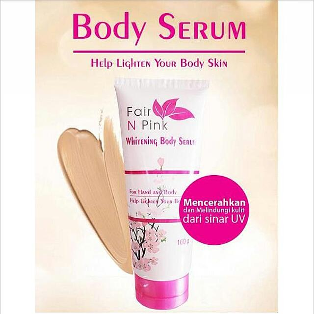 Fair N Pink Whitening Body Serum 160ml Original BPOM