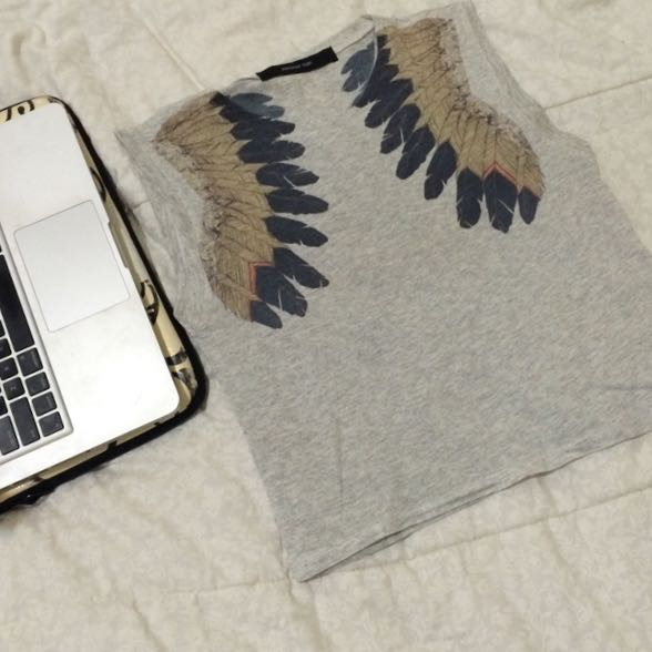 Feathers Sleeveless Top