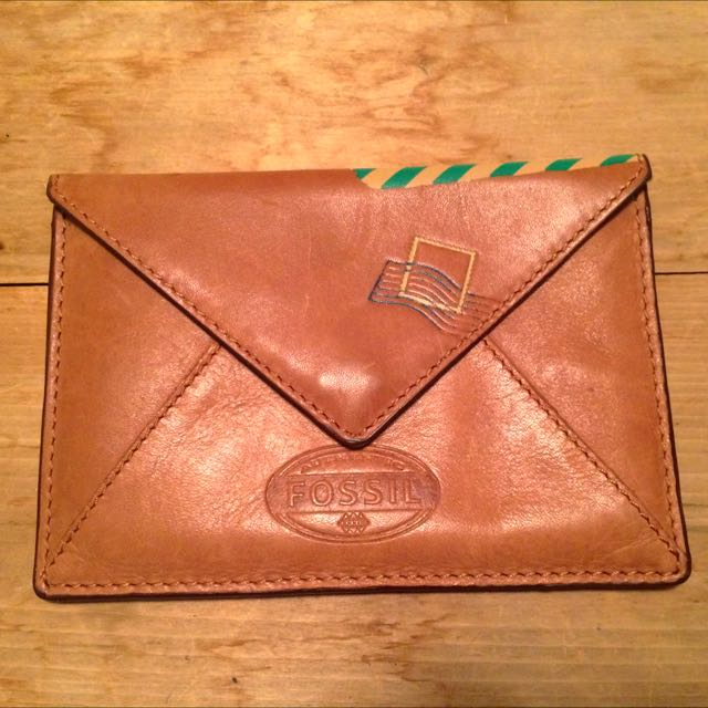 Fossil Leather Passport Wallet