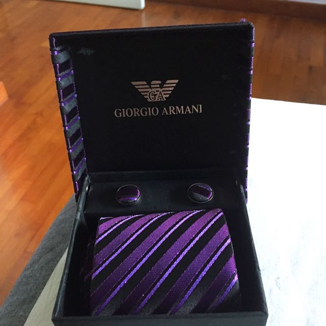 Giorgio Armani Tie and Cufflinks set