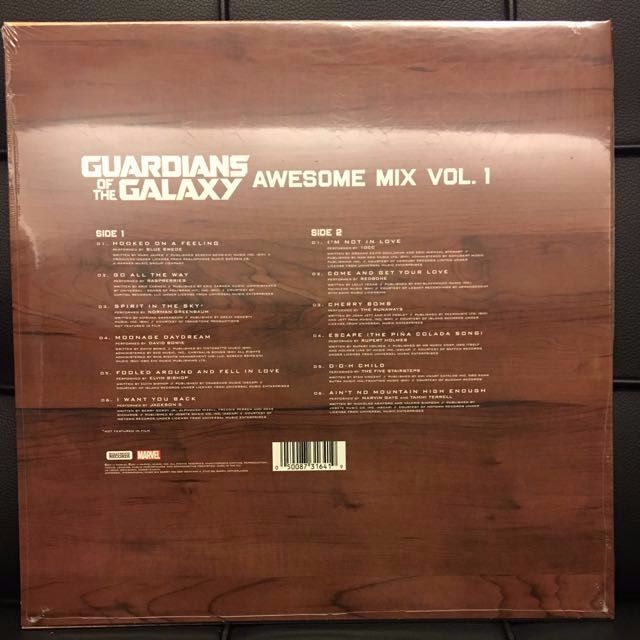 guardians of the galaxy awesome mix vol 1 vinyl lp new music u0026 media cds dvds u0026 other media on carousell